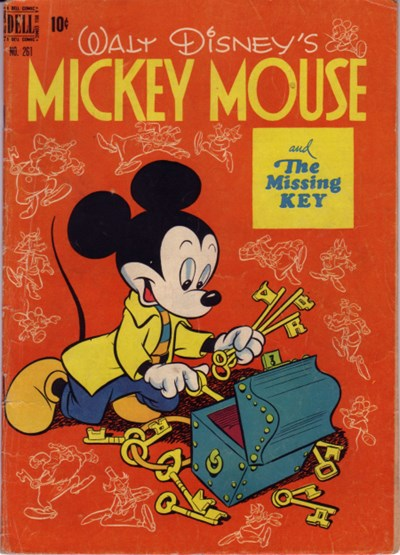 Comic Cover for Mickey Mouse (Four-Color) (#261)