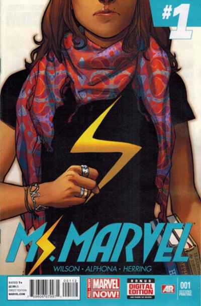 (Marvel) Cover for Ms. Marvel #1 Second Printing