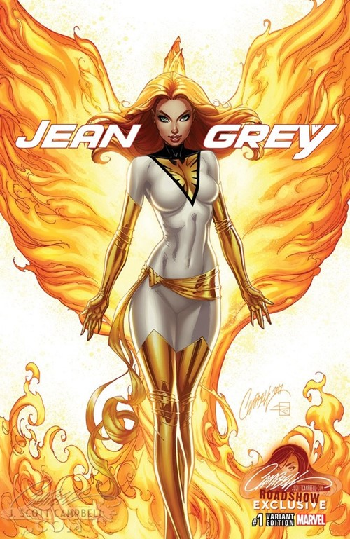 (Marvel) Cover for Jean Grey #1 J. Scott Campbell Store Convention Exclusive Variant Limited to 1000