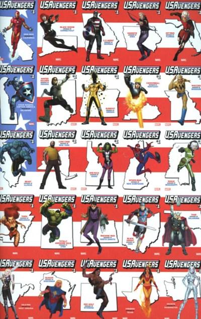 (Marvel) Cover for U.S.Avengers #1 Rod Reis Variant Cover. Limited 1 per store.