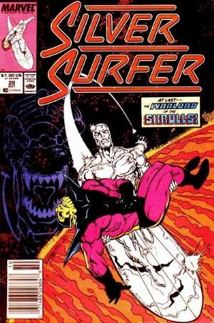 (Marvel) Cover for Silver Surfer #28 Newsstand Edition