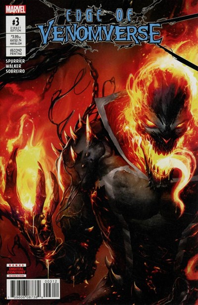(Marvel) Cover for Edge Of Venomverse #3 Francesco Mattina Second Printing Variant Cover