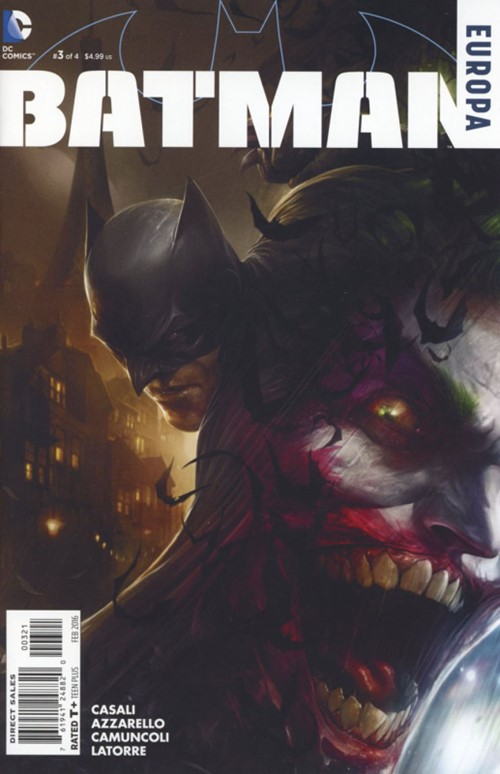 (DC) Cover for Batman: Europa #3 Francesco Mattina Variant Cover. Limited 1 for 25.