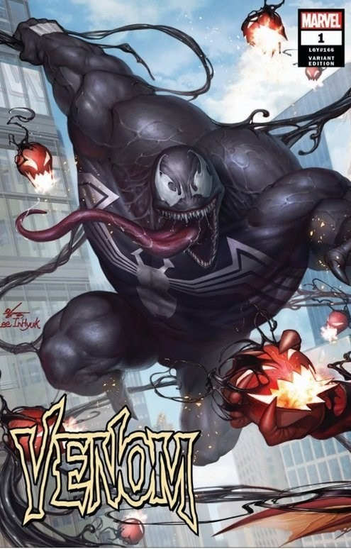 (Marvel) Cover for Venom #1 ComicXposure Exclusive In-Hyuk Lee Connecting Variant Cover (Left Side, Connects with ASM #801)