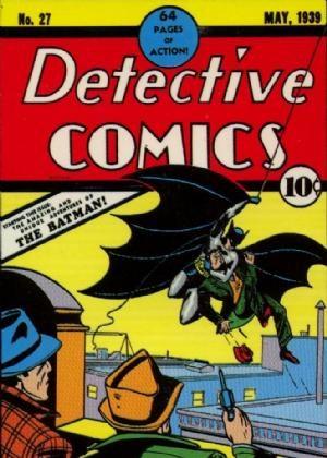 (DC) Cover for Detective Comics #27 1st Appearance of Batman (Bruce Wayne) & Commissioner James Gordon.