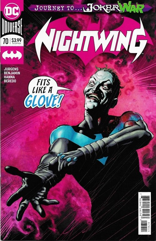 (DC) Cover for Nightwing #70 Begins the Joker War