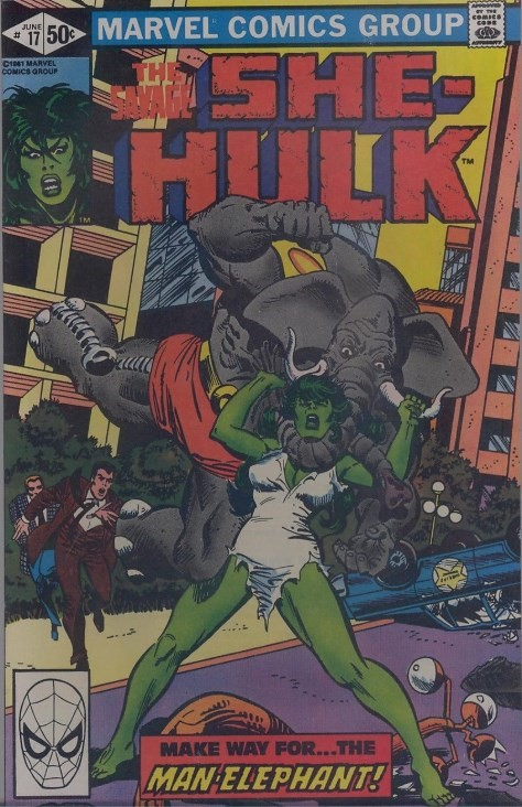 (Marvel) Cover for Savage She-Hulk, The #17 Direct Edition. 1st Appearance of Man-Elephant (Manfred Haller)