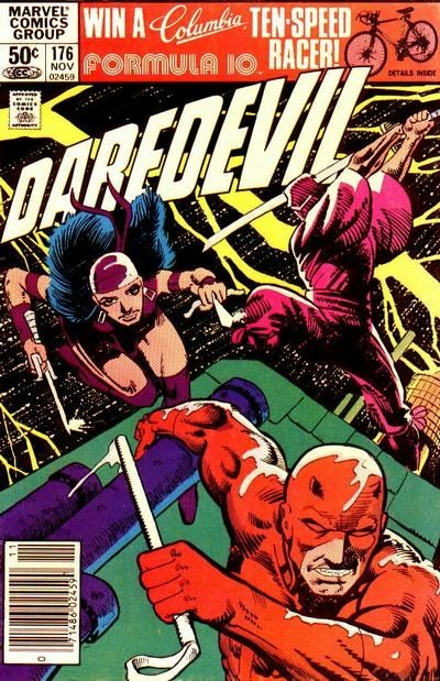 (Marvel) Cover for Daredevil #176 Newsstand Edition
