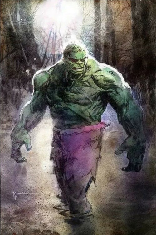 (Marvel) Cover for Immortal Hulk #20 BillSienkiewicz.com Exclusive Variant