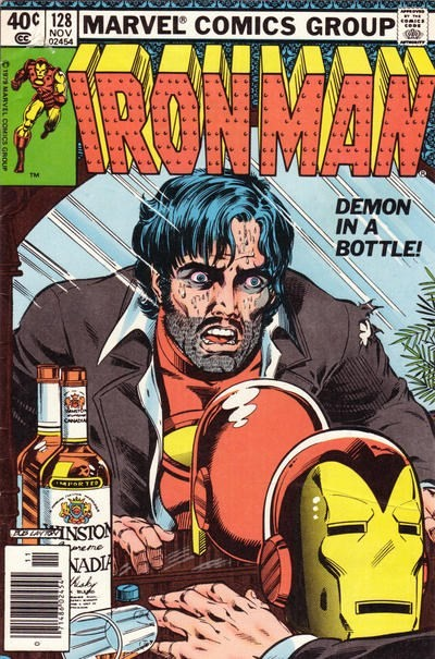 (Marvel) Cover for Iron Man #128 Newsstand Edition