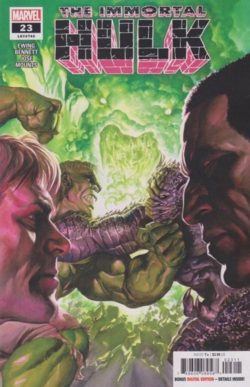 (Marvel) Cover for Immortal Hulk #23 Alpha & Gamma Flight Appearance