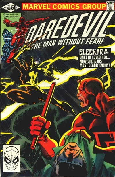 (Marvel) Cover for Daredevil #168 1st Appearance of Elektra (Misspelled on the cover as Elecktra)
