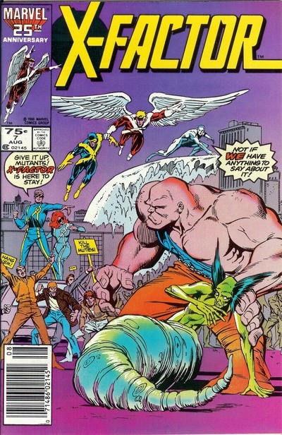 (Marvel) Cover for X-Factor #7 1st Appearance of Bulk, Glow Worm, Skids and Trish Tilby