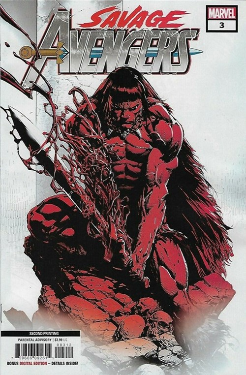 (Marvel) Cover for Savage Avengers #3 David Finch Second Printing Variant Cover