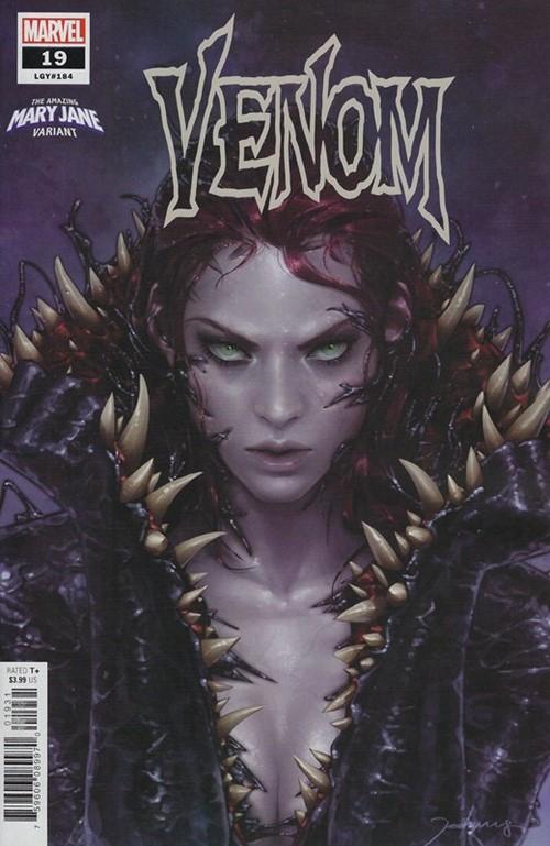 (Marvel) Cover for Venom #19 Jee-Hyung Lee Venom-ized Mary Jane Variant Cover