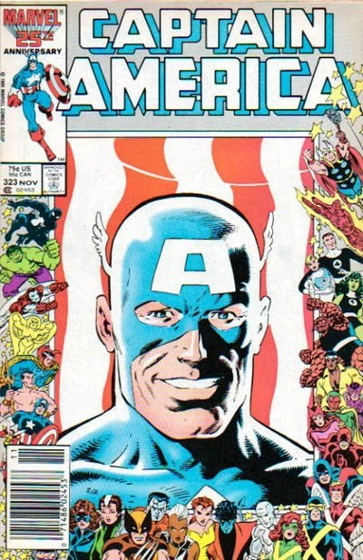 (Marvel) Cover for Captain America #323 Newsstand Edition 1st Appearance of John Walker aka Super Patriot / US Agent