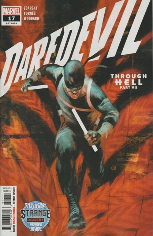 (Marvel) Cover for Daredevil #17 Death of Hammerhead (Joseph)