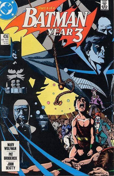 (DC) Cover for Batman #436 Year Three 1, 1st Tim Drake. 1st Print Blue Logo