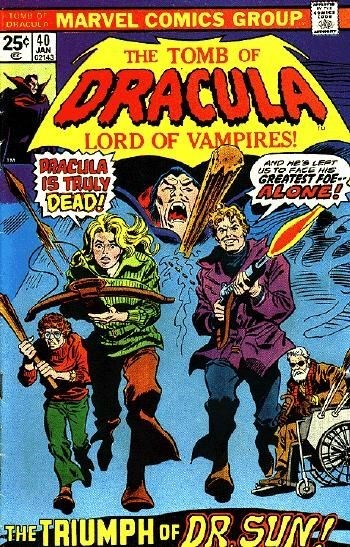 Comic Cover for Tomb Of Dracula (#40)