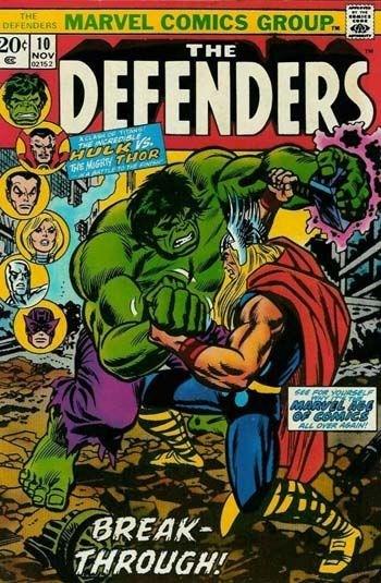 (Marvel) Cover for Defenders, The #10 Thor Vs. The Hulk (Classic Test of Strength Cover). Avengers vs Defenders Crossover