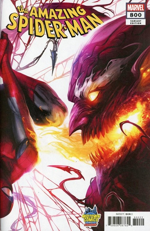 (Marvel) Cover for Amazing Spider-Man, The #800 Midtown Comics Exclusive Francesco Mattina Connecting Variant Cover (Right Side, Connects with Venom #1)