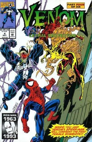 (Marvel) Cover for Venom: Lethal Protector #4 1st Appearance of the Life Foundation Symbiotes; Agony, Phage, Riot, Lasher and Scream