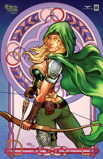 (Zenescope Entertainment Inc.) Cover for Grimm Fairy Tales Presents Robyn Hood #4 CS Moore Exclusive Variant Cover. Limited to 250.