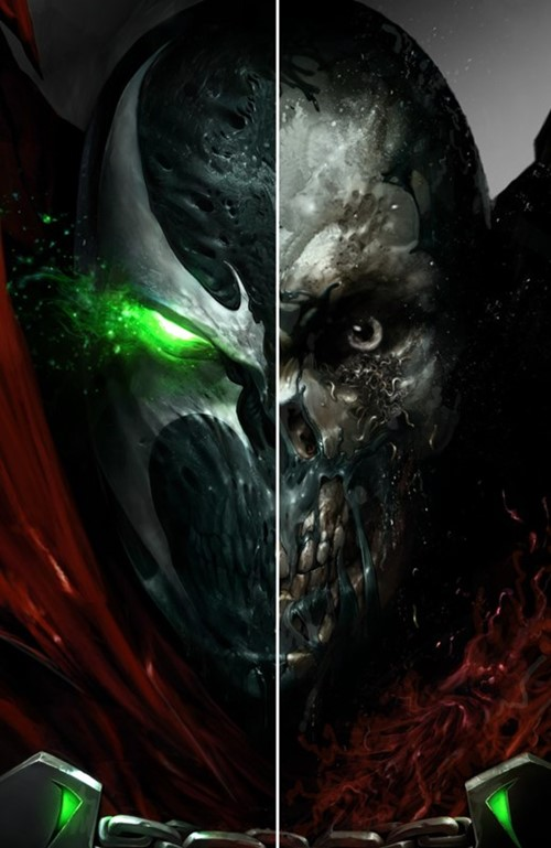 (Image) Cover for Spawn #285 Francesco Mattina Split Face Virgin Variant Cover