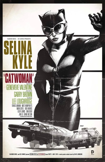 (DC) Cover for Catwoman #40 Dave Johnson Movie Poster Variant Cover - Bullitt