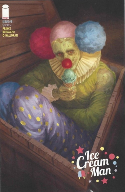 (Image) Cover for Ice Cream Man #8 1st Appearance of Happy Hank, the Very Happy Clown - Cover B by Vanesa Del Rey