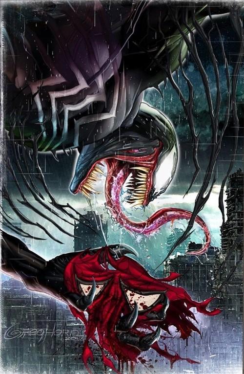 (Marvel) Cover for Venom #1 GregHornArt.com Exclusive Greg Horn Cover C Virgin Variant Limited to 1000