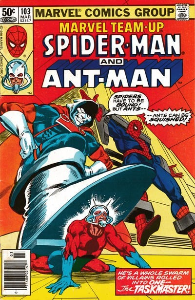 (Marvel) Cover for Marvel Team-Up #103 Antman Newsstand Edition