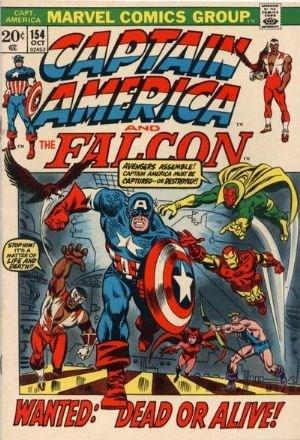 (Marvel) Cover for Captain America #154 1st Full Jack Monroe Appearance, 1950's Cap & Avengers Appearance
