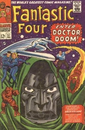 (Marvel) Cover for Fantastic Four #57 Silver Surfer & Doctor Doom Appearance, Classic Cover