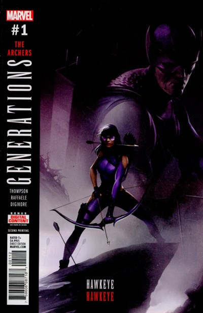 (Marvel) Cover for Generations: Hawkeye & Hawkeye #1 Francesco Mattina Second Printing Variant Cover