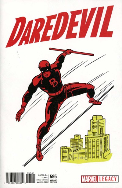(Marvel) Cover for Daredevil #595 Jack Kirby 1965 T-Shirt Variant Cover. Limited 1 for 50.