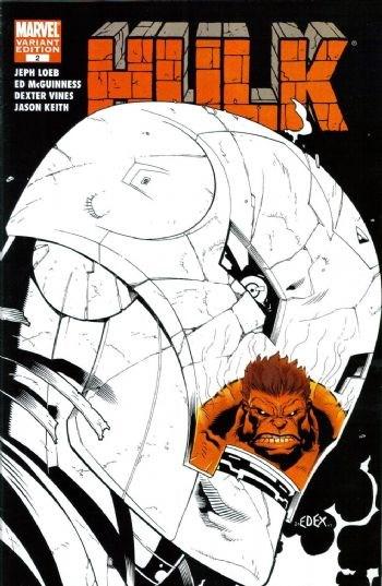 (Marvel) Cover for Hulk #2 Ed McGuinness Retailer Sketch Cover.  Limtied to 3,000 (1 Per Retailer)