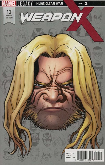 (Marvel) Cover for Weapon X #12 Mike McKone Legacy Headshot Variant Cover. Limited 1 for 10.