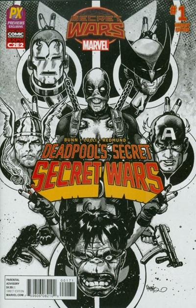 (Marvel) Cover for Deadpool's Secret Secret Wars #1 C2E2 Previews Exclusive Tony Harris Inked Variant Cover