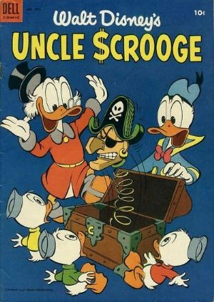 (Dell) Cover for Uncle Scrooge (Four Color) #495 This is the 3rd Uncle Scrooge Comic