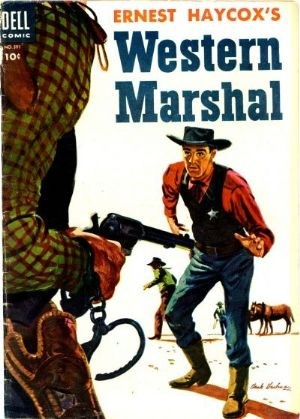 (Dell) Cover for Western Marshal (Four-Color) #591 (10/1954) Art by Kinstler.