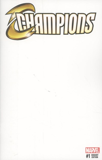 (Marvel) Cover for Champions #1 Blank Variant Cover