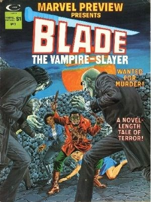 (Curtis Magazines) Cover for Marvel Preview #3 First Appearance of Afari, Blade's mentor