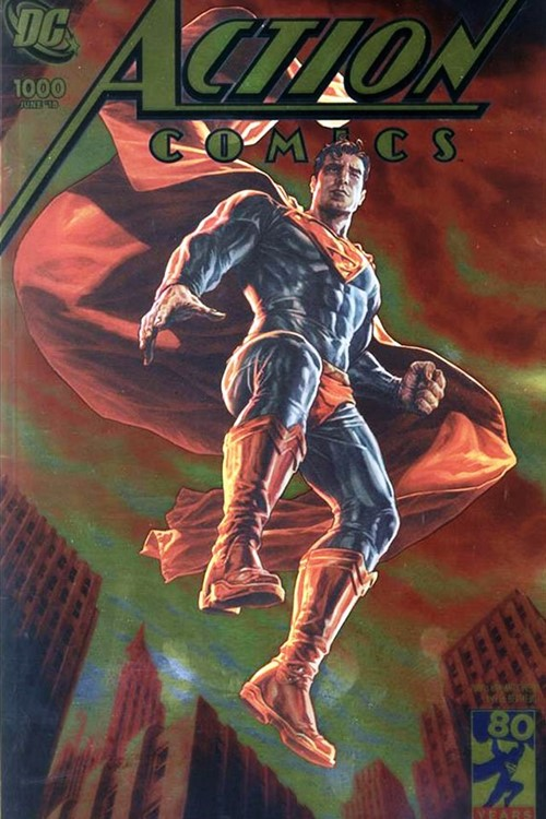(DC) Cover for Action Comics #1000 Convention Exclusive Lee Bermejo 2000's Gold Foil Variant Cover