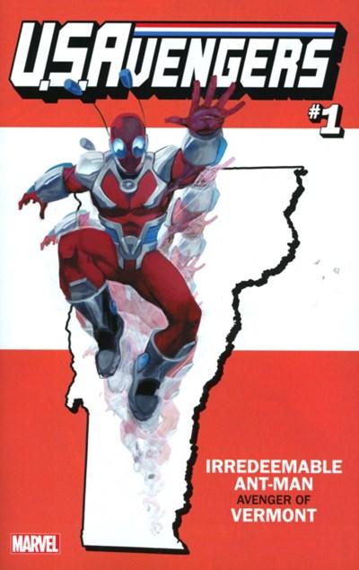 (Marvel) Cover for U.S.Avengers #1 Rod Reis Vermont State Variant Cover