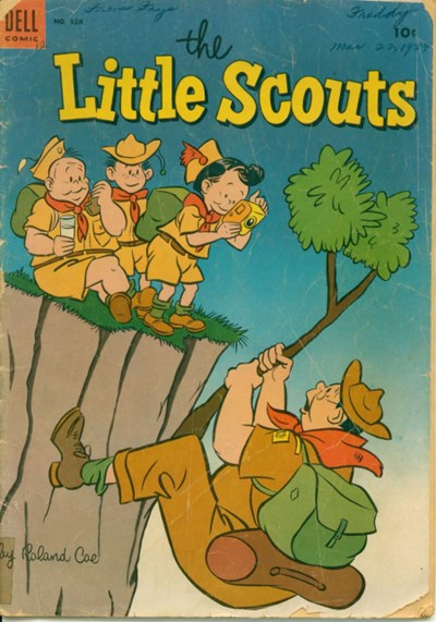 (Dell) Cover for Little Scouts, The (Four Color) #550