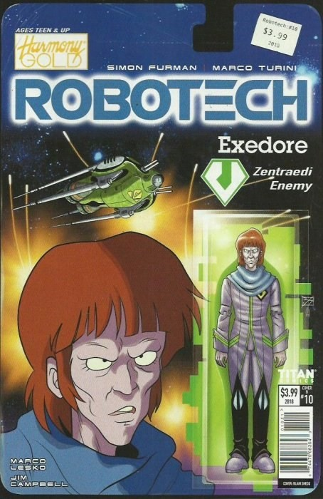 (Titan) Cover for Robotech #10 Cover B by Blair Shedd (Action Figure Cover)