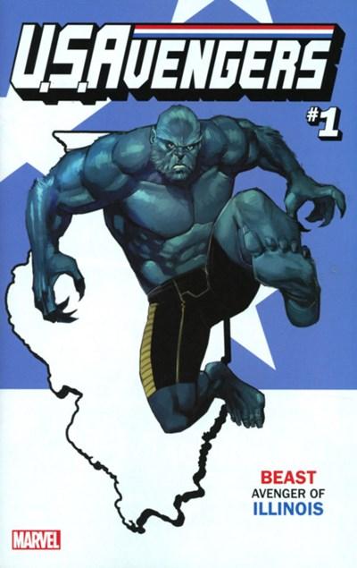 (Marvel) Cover for U.S.Avengers #1 Rod Reis Illinois State Variant Cover