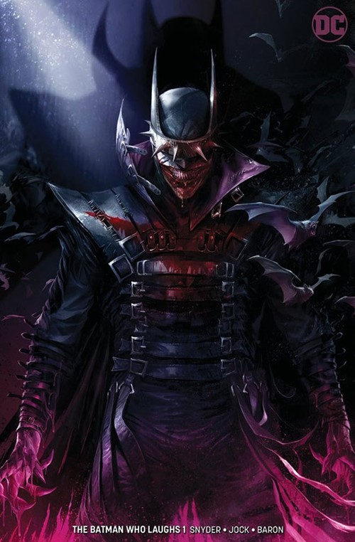 (DC) Cover for Batman Who Laughs, The #1 Frankie's Comics Exclusive Francesco Mattina Minimal Variant Limited to 600