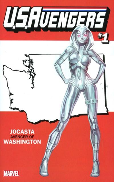(Marvel) Cover for U.S.Avengers #1 Rod Reis Washington State Variant Cover